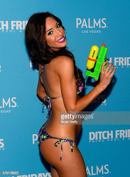 Television personality and adult film actress Farrah Abraham celebrates her birthday during Ditch Fridays at the Palms Pool Dayclub on May 29 2015 in...