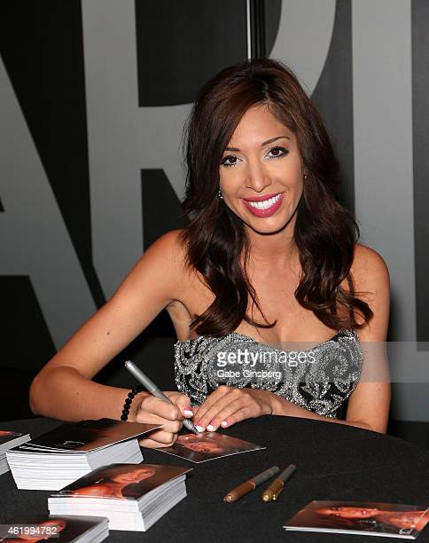 Television personality and adult film actress Farrah Abraham signs autographs during the 2015 AVN Adult Entertainment Expo at the Hard Rock Hotel...