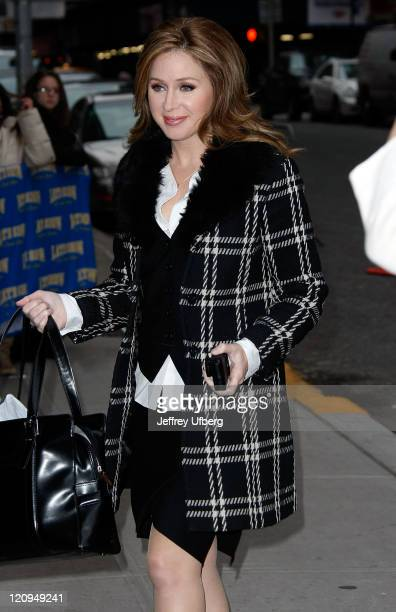 Television personality and anchorwoman Becky Quick visits 'Late Show with David Letterman' at the Ed Sullivan Theater on January 6 2009 in New York...