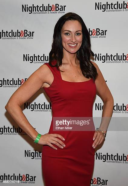 Television personality and bartender Mia Mastroianni attends the 30th annual Nightclub Bar Convention and Trade Show at the Las Vegas Convention...
