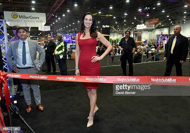 Television personality and bartender Mia Mastroianni attends the ribboncutting ceremony to open the 30th annual Nightclub Bar Convention and Trade...