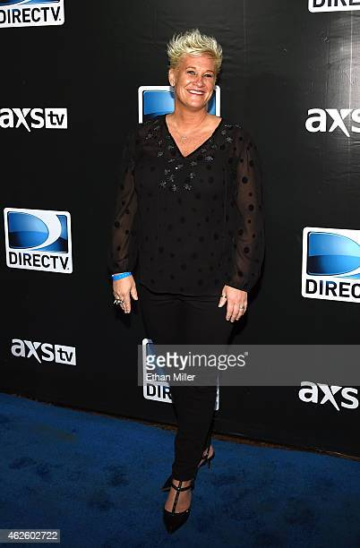 Television personality and chef Anne Burrell attends DirecTV Super Saturday Night hosted by Mark Cuban's AXS TV and Pro Football Hall of Famer...