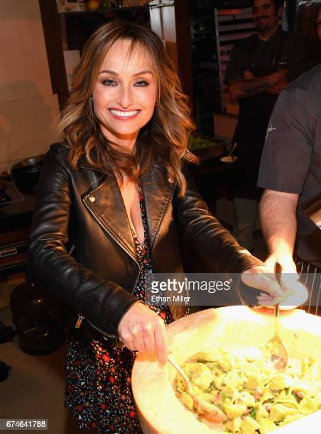 Television personality and chef Giada De Laurentiis poses at the Giada booth during the 11th annual Vegas Uncork'd by Bon Appetit Grand Tasting event...