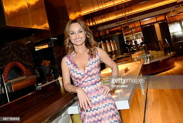 Television personality and chef Giada De Laurentiis poses in her new restaurant called Giada at The Cromwell Las Vegas on May 21 2014 in Las Vegas...