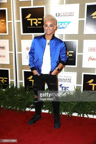 Television personality and dancer Frankie Grande attends Imagine Dragons' fifth annual Tyler Robinson Foundation Rise Up Gala benefiting families...