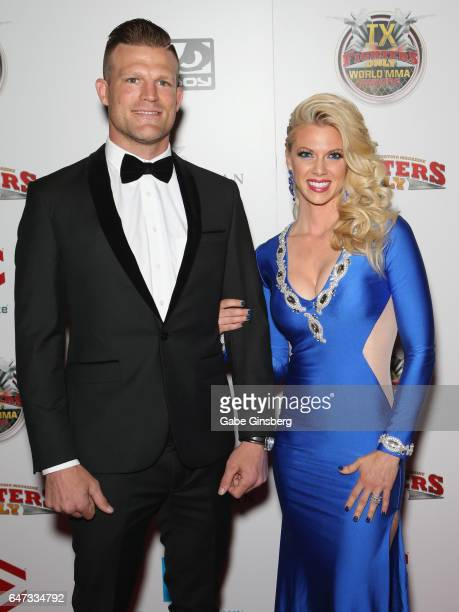 Television personality and former mixed martial artist Bristol Marunde and his wife television personality Aubrey Marunde attend the ninth annual...