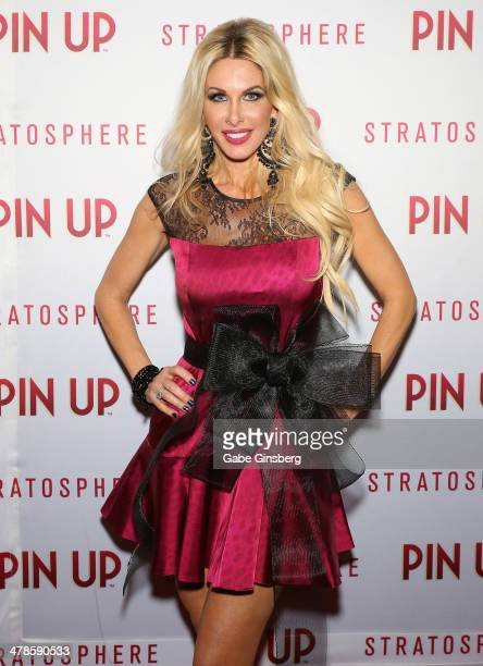 Television personality and model Amanda Kouretas arrives at the anniversary celebration of the show Pin Up at the Stratosphere Casino Hotel on March...