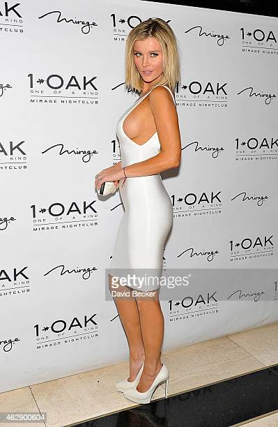 Television personality and model Joanna Krupa arrives at 1 OAK Nightclub at The Mirage Hotel Casino on February 6 2015 in Las Vegas Nevada
