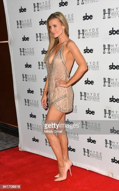 Television personality and model Joanna Krupa arrives at her birthday party at Hyde Bellagio at the Bellagio on April 4 2018 in Las Vegas Nevada