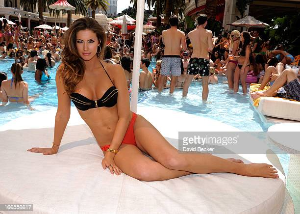 Television personality and model Katherine Webb appears at the Encore Beach Club at Encore Las Vegas on April 13 2013 in Las Vegas Nevada