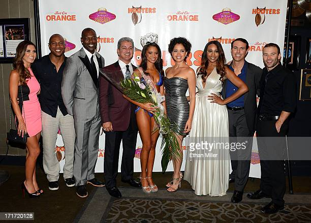 Television personality and pageant judge Audrina Patridge ESPN analyst former NBA player and pageant judge Jay Williams NFL free agent and pageant...