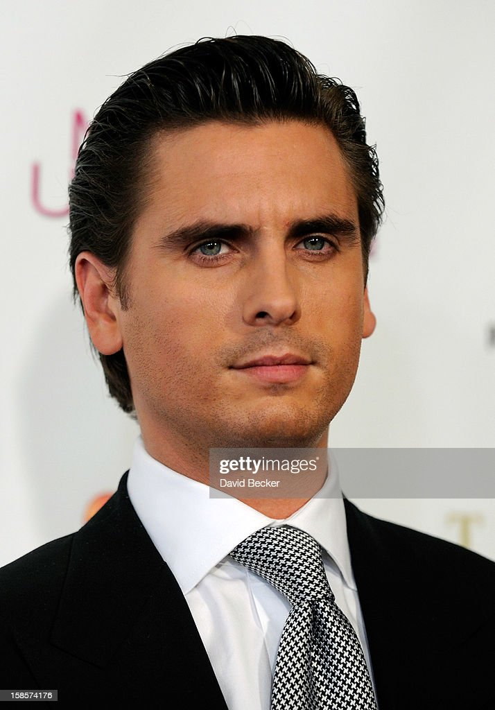 Television personality and pageant judge Scott Disick arrives at the 2012 Miss Universe Pageant at Planet Hollywood Resort & Casino on December 19, 2012 in Las Vegas, Nevada.