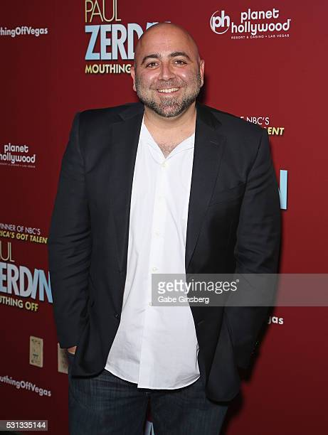 Television personality and pastry chef Duff Goldman attends the opening night of 'Paul Zerdin Mouthing Off' at Planet Hollywood Resort Casino on May...