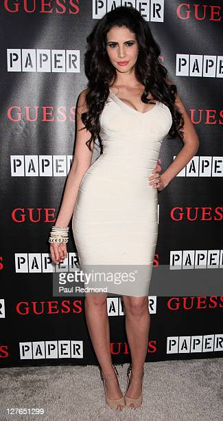 Television personality and Playboy Playmate Hope Dworaczyk arrives at 2011 Beautiful People Party Hosted By Paper Magazine And Guess at The Standard...