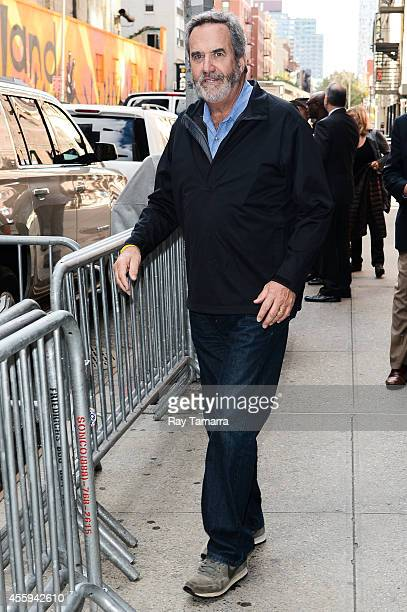 Television personality and retire professional football player Dan Fouts leaves the 'Late Show With David Letterman' taping at the Ed Sullivan...