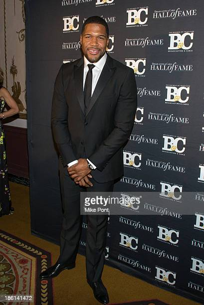 Television Personality and Retired Football Player Michael Strahan attends the Broadcasting and Cable 23rd Annual Hall of Fame Awards Dinner at The...