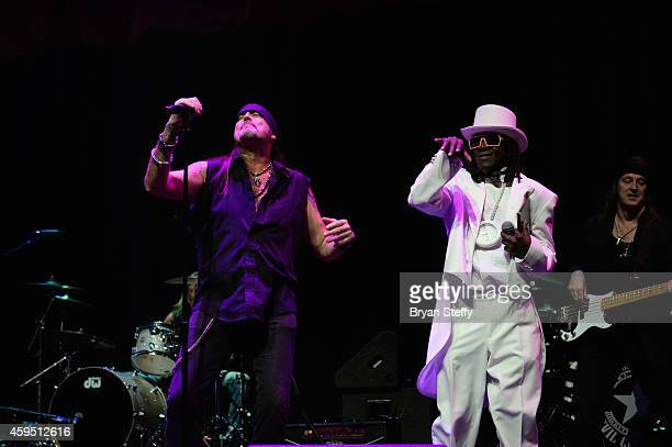 Television personality and singer Danny Koker and rapper Flavor Flav perform during The 5th annual Vegas Rocks Magazine Music Awards at The Pearl...