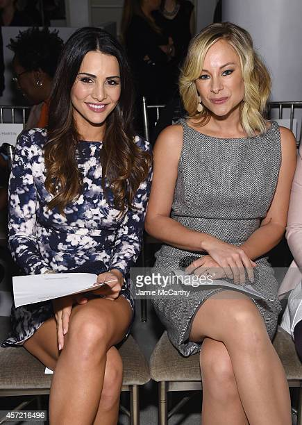 Television personality Andi Dorfman and actress Alyshia Ochse sit front row at The Mark Zunino For Kleinfeld 2015 Runway Show at Kleinfeld on October...