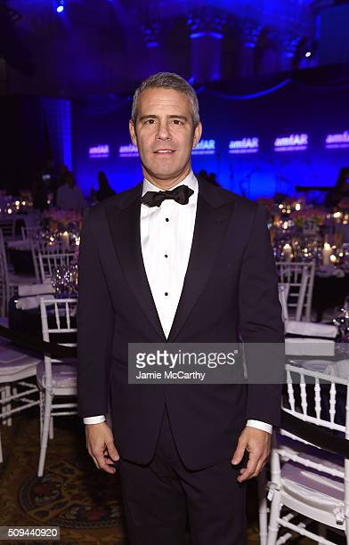Television personality Andy Cohen attends the 2016 amfAR New York Gala at Cipriani Wall Street on February 10 2016 in New York City