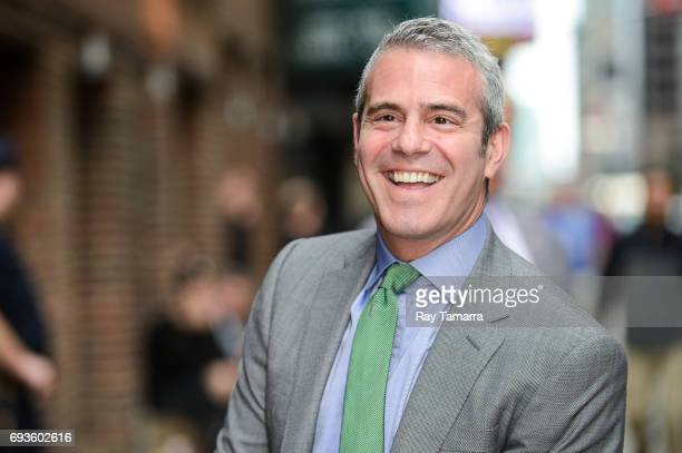 Television personality Andy Cohen enters the The Late Show With Stephen Colbert taping at the Ed Sullivan Theater on June 07 2017 in New York City
