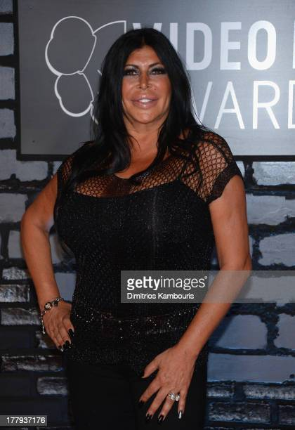 Television personality Angela Big Ang Raiola attends the 2013 MTV Video Music Awards at the Barclays Center on August 25 2013 in the Brooklyn borough...