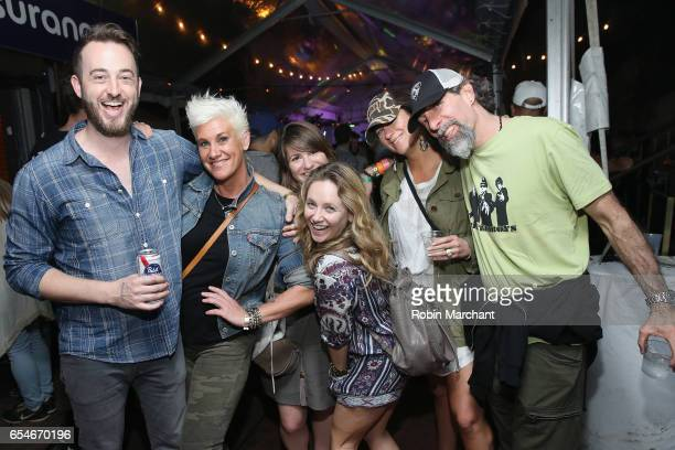 Television Personality Anne Burrell and friends attend The Big Machine Label Group Showcase at TuneIn Studios @ SXSW 2017 on Friday March 17th 2017...