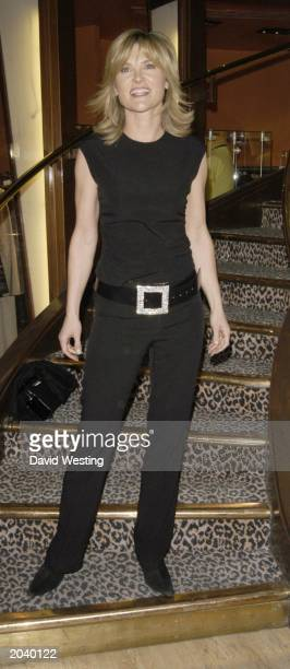 Television personality Anthea Turner attends the 'Design of the times' auction at Planet Hollywood London England on March 25 2003