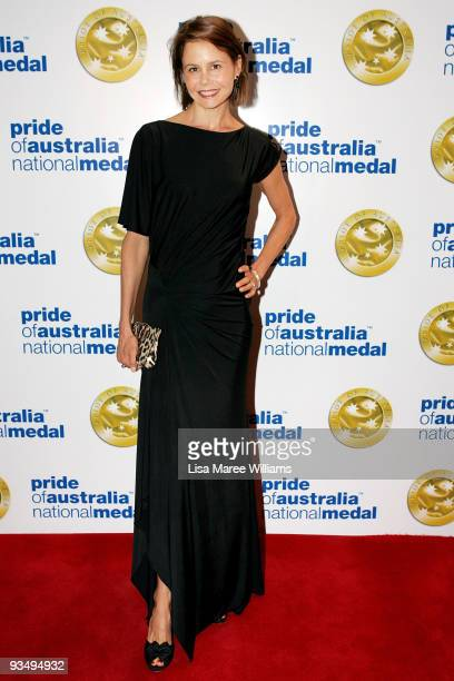 Television personality Antonia Kidman arrives for the Pride of Australia National Medal 2009 ceremony at the Westin Hotel on November 30 2009 in...