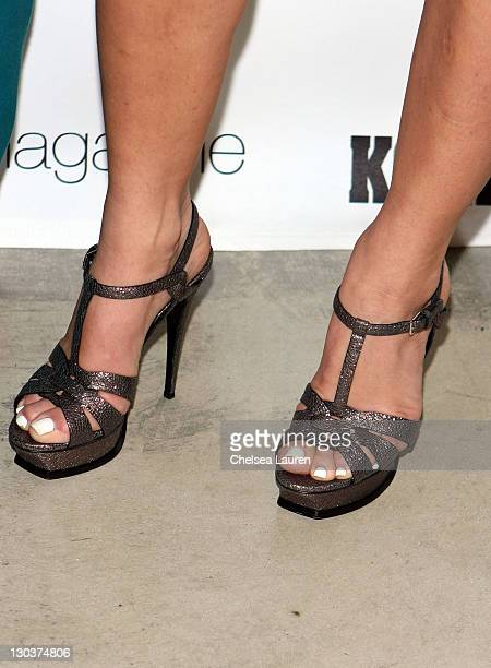 Television personality April Roomet attends the New Era 944 Magazine PreGrammy Party at Studio 944 on February 7 2009 in Hollywood California