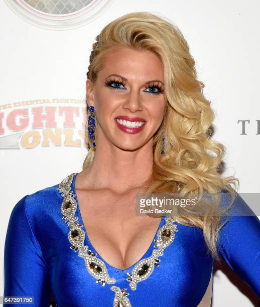 Television personality Aubrey Marunde attends the ninth annual Fighters Only World Mixed Martial Arts Awards at The Palazzo Las Vegas on March 2 2017...