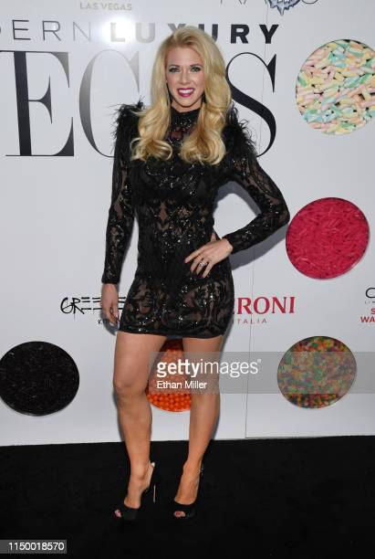 Television personality Aubrey Marunde from HGTV's Flip or Flop Vegas attends Vegas Magazine's 16th anniversary party at KAOS Nightclub at Palms...