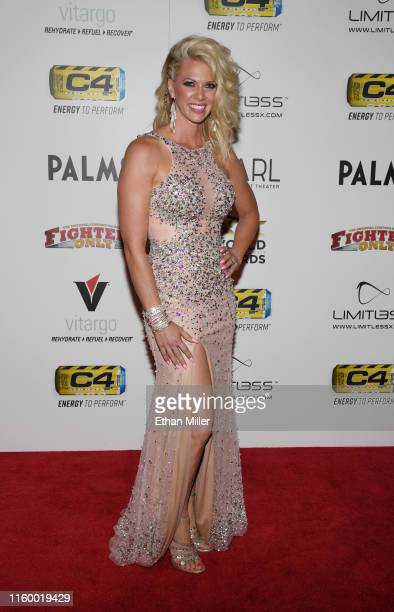 Television personality Aubrey Marunde from HGTV's Flip or Flop Vegas attends the 11th annual Fighters Only World MMA Awards at Palms Casino Resort on...