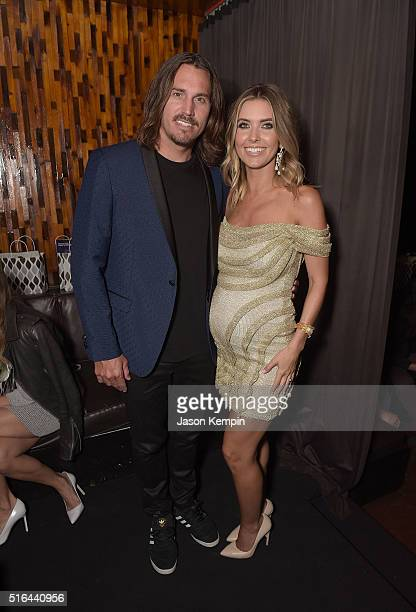 Television personality Audrina Patridge and Corey Bohan attend the LAPALME Magazine Spring Affair at The Room on March 18 2016 in Los Angeles...