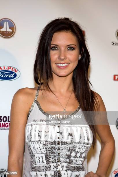 Television personality Audrina Patridge arrives at the Official Grand Opening of Galpin Auto Sports on October 18 2008 in Van Nuys California