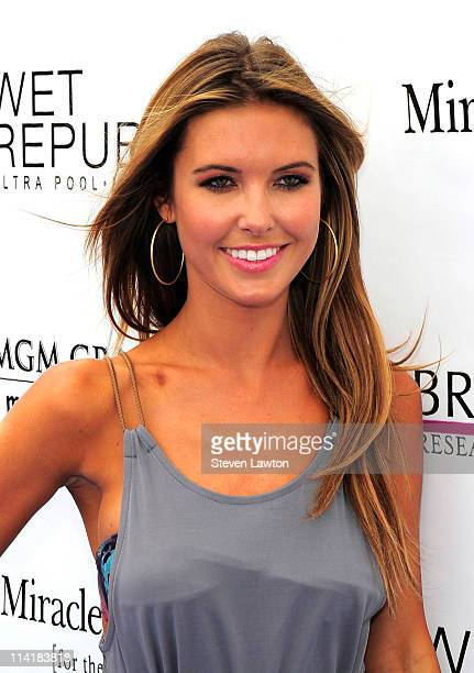 Television personality Audrina Patridge arrives to celebrate her birthday at the Wet Republic pool at the MGM Grand Hotel/Casino on May 14, 2011 in...