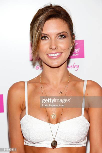 Television personality Audrina Patridge attends the Fire Ice Gala Benefiting Fresh2o at Lexington Social House on March 28 2013 in Hollywood...