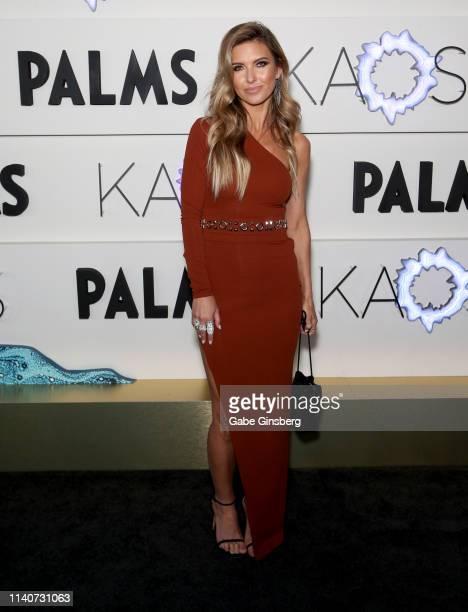 Television personality Audrina Patridge attends the grand opening of KAOS Dayclub Nightclub at Palms Casino Resort on April 05 2019 in Las Vegas...
