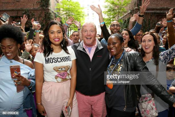 Television Personality Ayesha Curry Chef Mario Batali and CEO of Food Bank Margarett Purvis attend the Family Ice Cream Fundae hosted by Mario Batali...