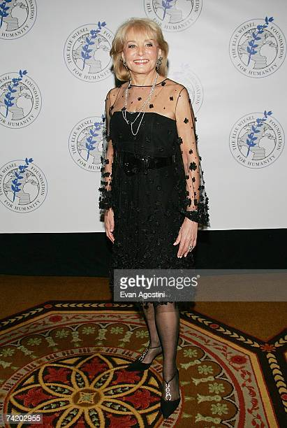 Television personality Barbara Walters attends The Elie Wiesel Foundation for Humanity Award Dinner at the Waldorf-Astoria, May 20, 2007 in New York...