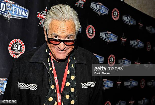 Television personality Barry Weiss appears in the media room during the fourth round of the Professional Bull Riders Built Ford Tough World Finals at...