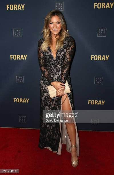Television personality Becca Tilley attends FORAY Collective and The Black Tux Host Holiday Gala on December 12 2017 in Los Angeles California