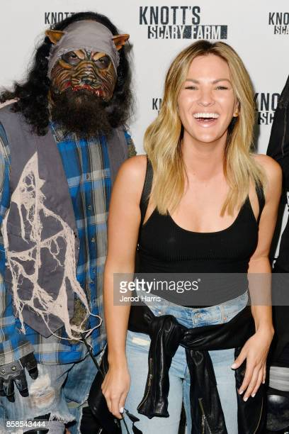 Television personality Becca Tilley visits Knott's Scary Farm at Knott's Berry Farm on October 6 2017 in Buena Park California
