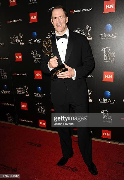 Television personality Ben Bailey poses in the press room at the 40th annual Daytime Emmy Awards at The Beverly Hilton Hotel on June 16 2013 in...