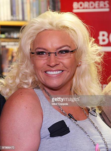 """Television personality Beth Chapman promotes """"When Mercy Is Shown, Mercy Is Given"""" at Borders Wall Street on March 19, 2010 in New York City."""