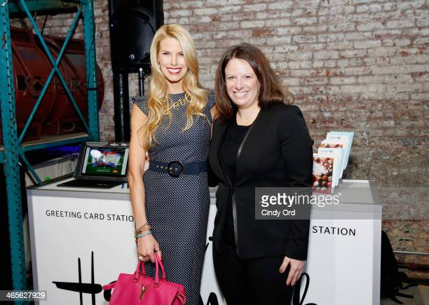 Television personality Beth Stern and Executive Vice President Distribution at Crown Media Family Networks Laura Lee atttend TWC Studios on January...