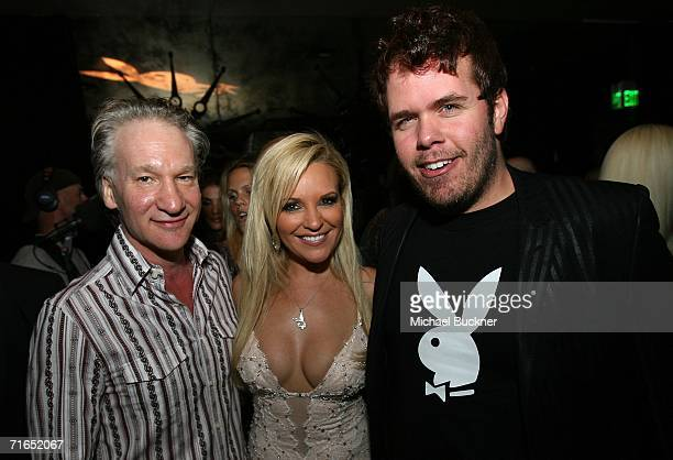 Television personality Bill Maher Girl Next Door model Bridget Marquardt and celebrity gossip blogger Perez Hilton attend Playboy and Stoli's...