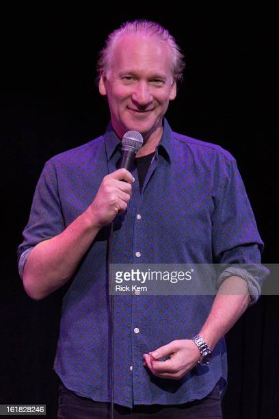 Television personality Bill Maher performs on stage at ACL Live on February 16 2013 in Austin Texas