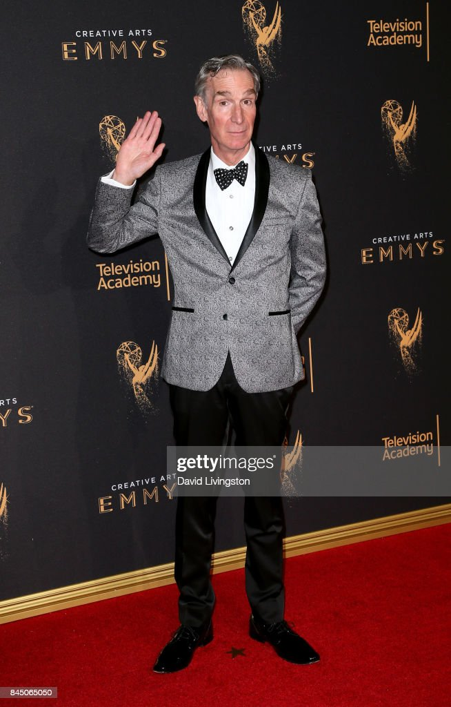 Television personality Bill Nye attends the 2017 Creative Arts Emmy Awards at Microsoft Theater on September 9, 2017 in Los Angeles, California.