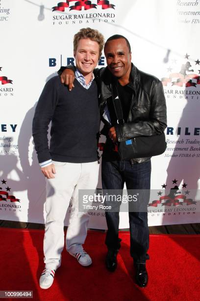 Television personality Billy Bush and Sugar Ray Leonard attend the Sugar Ray Leonard Foundation's Big Fighters Big Cause charity event at the Santa...