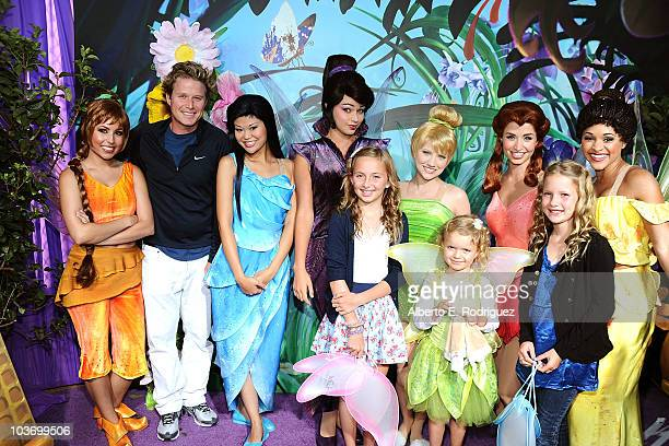 Television personality Billy Bush with guests Tinker Bell and the Fairies attend Picnic In The Park For 'Tinker Bell And The Great Fairy Rescue' at...